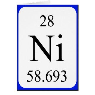 Element 28 card - Nickel white