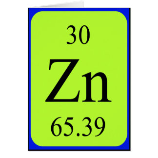 Element 30 card - Zinc