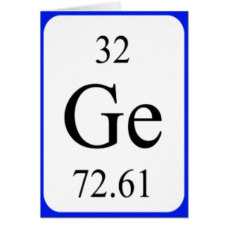 Element 32 card - Germanium white