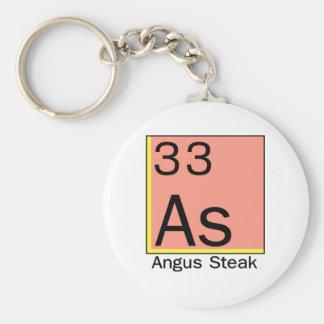 Element 33: Angus Steak Basic Round Button Keychain