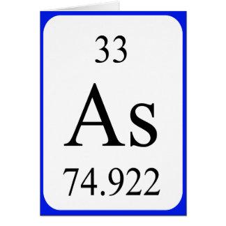 Element 33 card - Arsenic white
