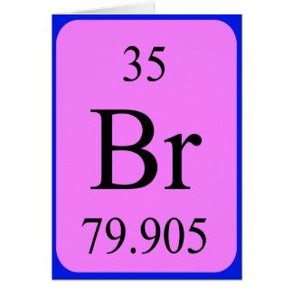Element 35 card - Bromine