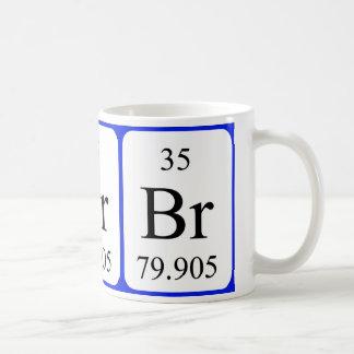 Element 35 white mug - Bromine
