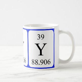 Element 39 white mug - Yttrium