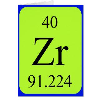 Element 40 card - Zirconium