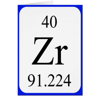 Element 40 card - Zirconium white
