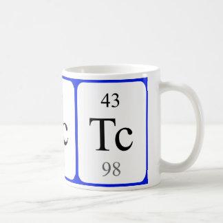 Element 43 white mug - Technetium