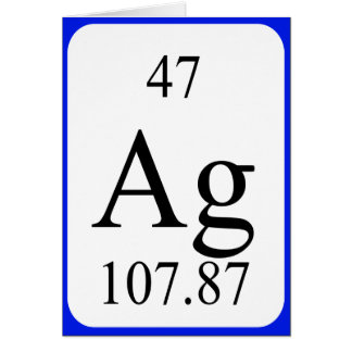 Element 47 card - Silver white