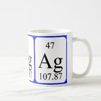Element 47 white mug - Silver
