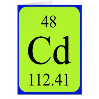 Element 48 card - Cadmium