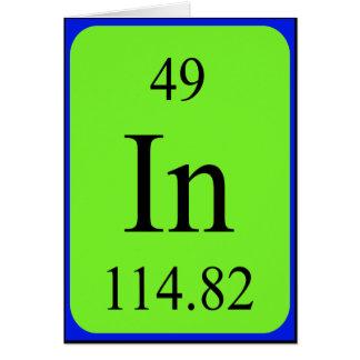 Element 49 card - Indium
