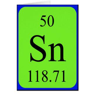 Element 50 card - Tin