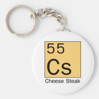 Element 55: Cheese Steak Basic Round Button Keychain