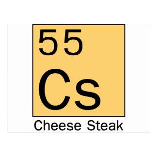 Element 55: Cheese Steak Postcard