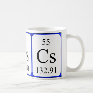 Element 55 white mug - Caesium
