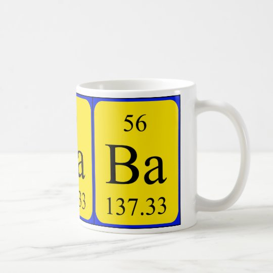 Element 56 mug - Barium