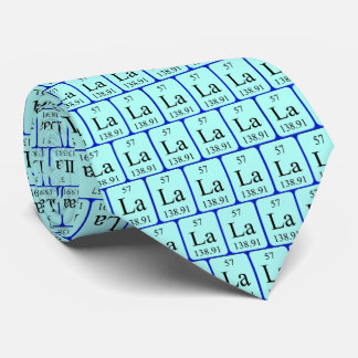 Element 57 tie - Lanthanum