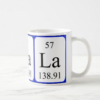 Element 57 white mug - Lanthanum