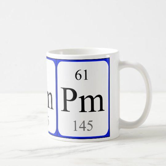 Element 61 white mug - Promethium