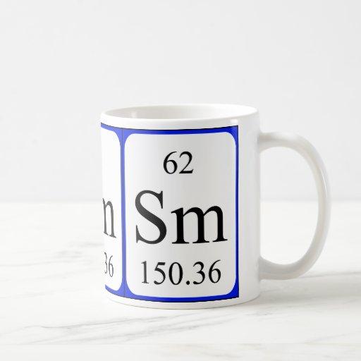 Element 62 white mug - Samarium