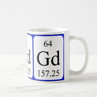 Element 64 white mug - Gadolinium