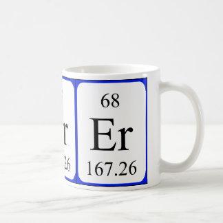 Element 68 white mug - Erbium