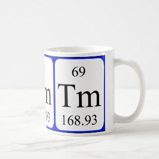 Element 69 white mug - Thulium