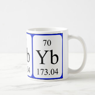 Element 70 white mug - Ytterbium