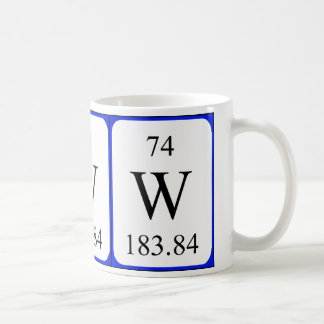 Element 74 white mug - Tungsten