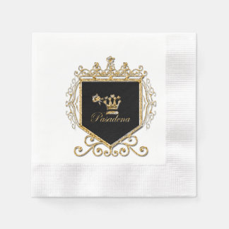 Element 79 coined cocktail napkin