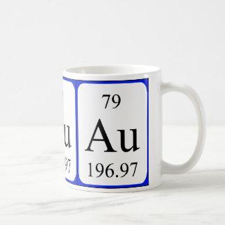 Element 79 white mug - Gold