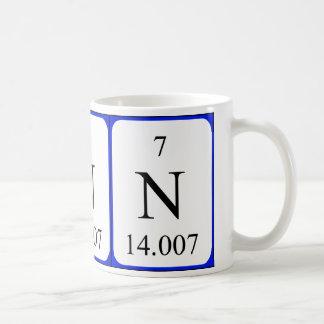 Element 7 white mug - Nitrogen