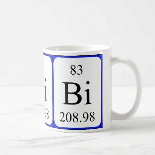 Element 83 white mug - Bismuth