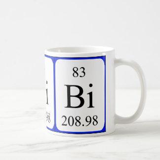Element 83 white mug - Bismuth Mug
