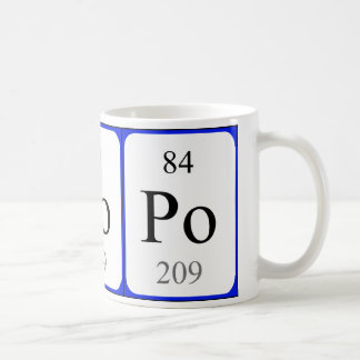 Element 84 white mug - Polonium