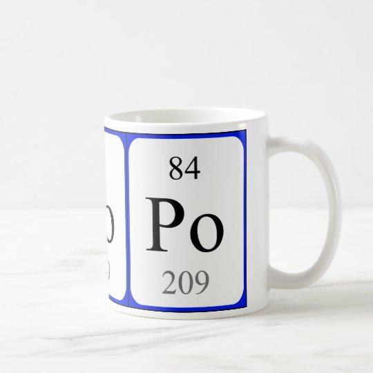 Element 84 white mug - Polonium