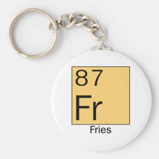 Element 87: Fries Basic Round Button Keychain