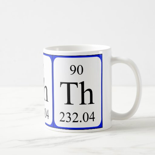 Element 90 white mug - Thorium