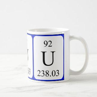 Element 92 white mug - Uranium