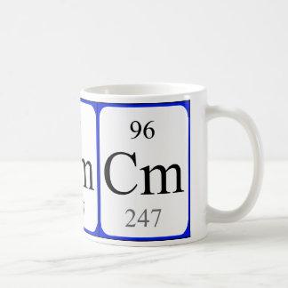 Element 96 white mug - Curium