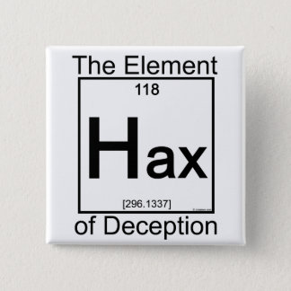 Element HAX Pinback Button