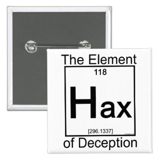 Element HAX Pinback Button