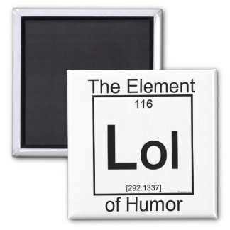 Element LOL 2 Inch Square Magnet