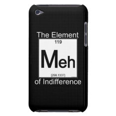 Element Meh Ipod Touch Cover at Zazzle