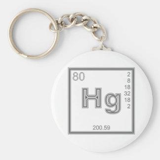 Element mercury more quicksilver basic round button keychain