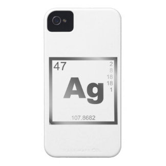 Element silver more silver Case-Mate iPhone 4 cases