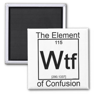 Element WTF 2 Inch Square Magnet