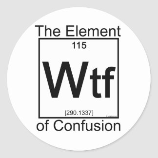 Element WTF Classic Round Sticker