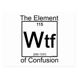 Element WTF Post Cards
