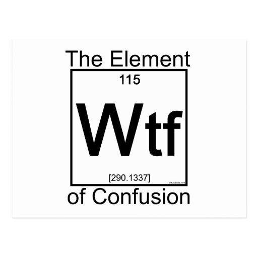 Element WTF Postcard